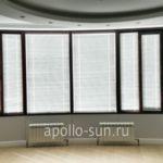 фото горизонтальных жалюзи в частный дом аполло жалюзи