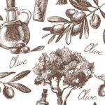акварель для кухни оливки акварель