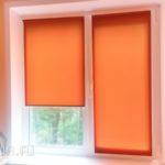 оранжевые рулонные шторы аполло-жалюзи
