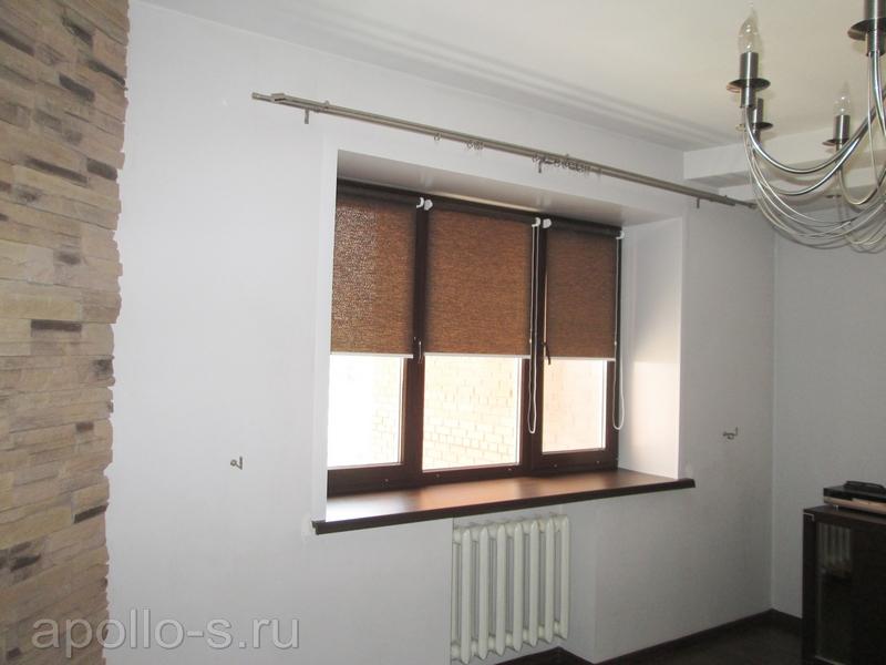 рулонные шторы в спальню аполло самара