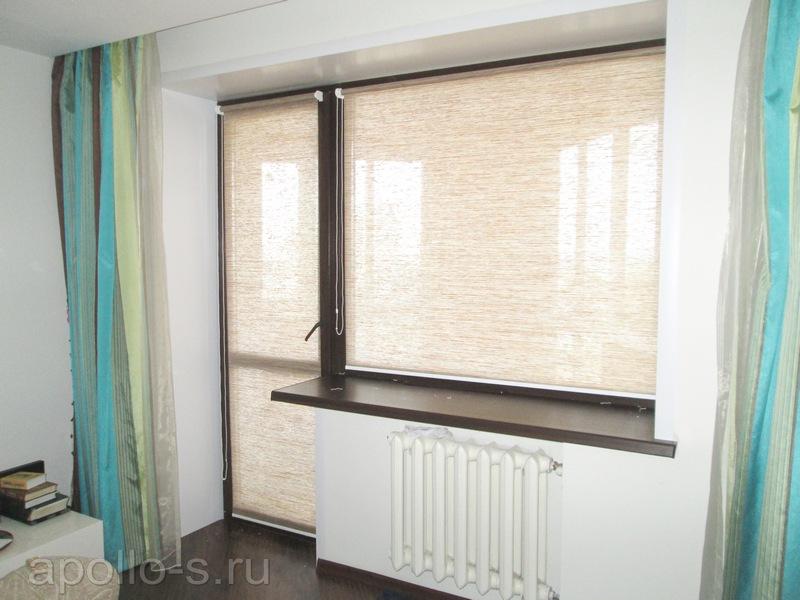рулонные шторы в спальню аполло