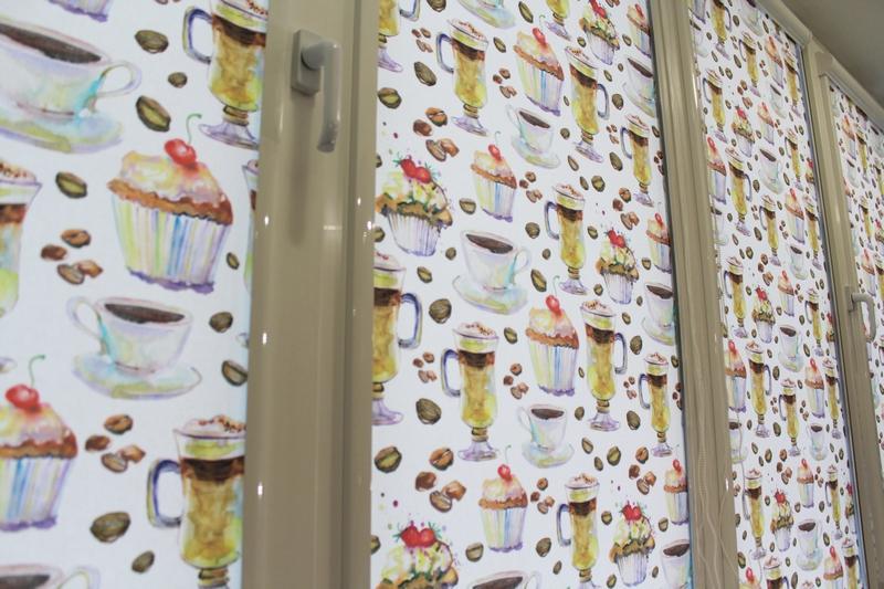 рулонные шторы жалюзи для кухни аполло