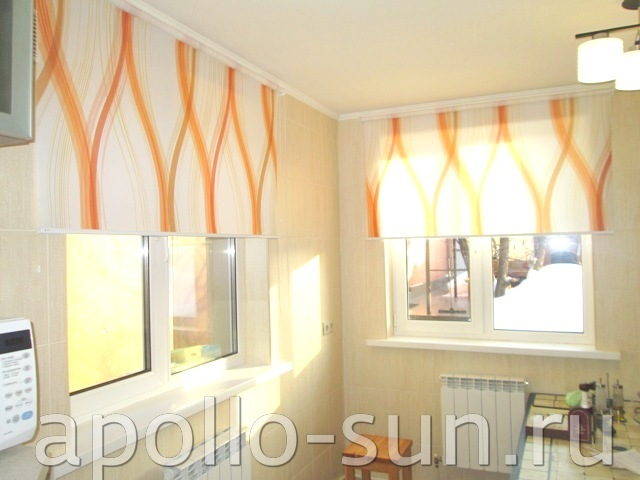 рулонные шторы с рисунком на заказ